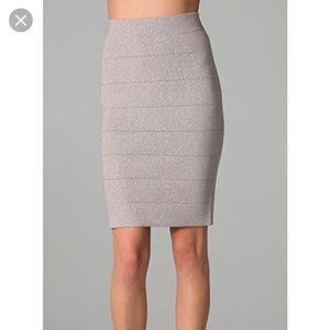 BCBGMaxAzria Scarlett Lurex Rose Pencil Skirt